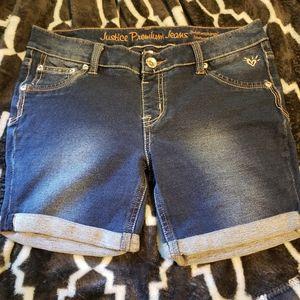 Girls Justice 16R Jean shorts, super soft